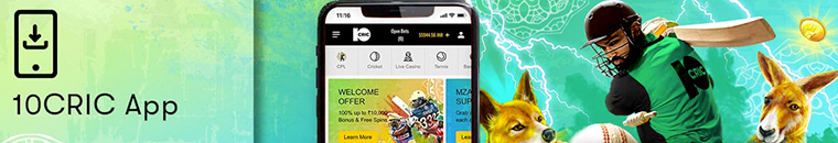sports betting with 10cric app